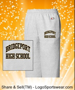 Bridgeport- Champion Pant Double Dry Fleece Open Bottom Youth Design Zoom