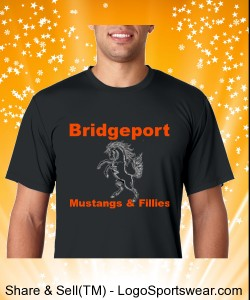 Bridgeport - Mens Custom Hanes T-Shirt Cool Dri 4 oz. Design Zoom