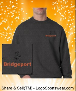 BRIDGEPORT- Design Gildan Sweatshirt 50/50 Heavyweight Ultra Blend Crew Neck Design Zoom